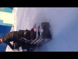 Дрифт на снегоходе)